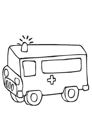 ausmalbilder rettungswagen - transport malvorlagen