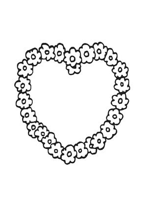 Ausmalbilder Blumen Herz Valentinstag Ausmalbilder Ausmalen