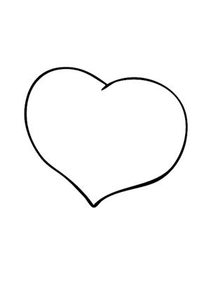 Ausmalbilder Herz 1 - Valentinstag Ausmalbilder ausmalen