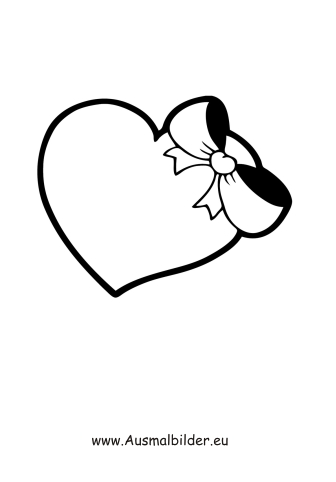 Ausmalbilder Herz Mit Schleife Valentinstag Ausmalbilder Ausmalen