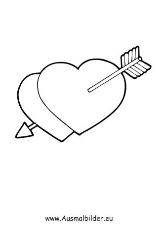 Ausmalbilder Herzen Mit Pfeil Valentinstag Ausmalbilder Ausmalen