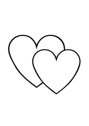 Ausmalbilder Zwei Herzen   Valentinstag Ausmalbilder ausmalen