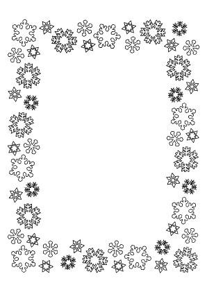 Ausmalbilder Bilderrahmen Schneeflocken Bilderrahmen