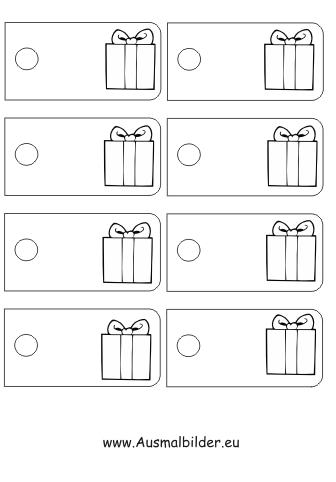 ausmalbilder geschenk geschenkanh nger malvorlagen. Black Bedroom Furniture Sets. Home Design Ideas