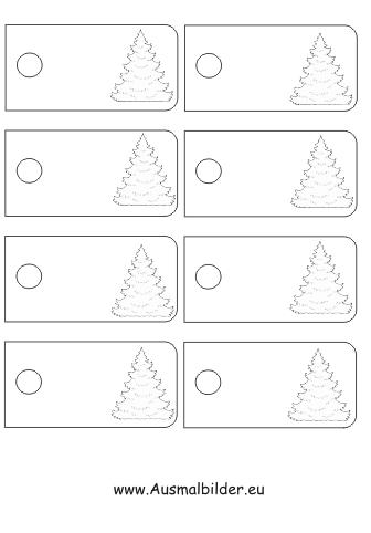 ausmalbilder weihnachtsbaum geschenkanh nger malvorlagen. Black Bedroom Furniture Sets. Home Design Ideas