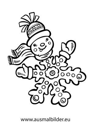 Atemberaubend Weihnachten Malvorlagen Schneeflocken Bilder - Ideen ...