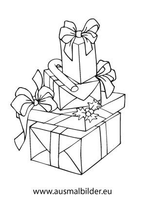 Ausmalbilder Geschenke Für Weihnachten Weihnachtsgeschenke Malvorlagen