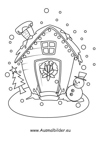 Ausmalbilder Weihnachtshäuser Haus Vom Nikolaus