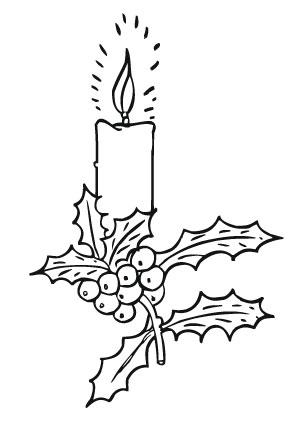Ausmalbilder Adventskerze Mit Stechpalmenzweig Weihnachtskerzen