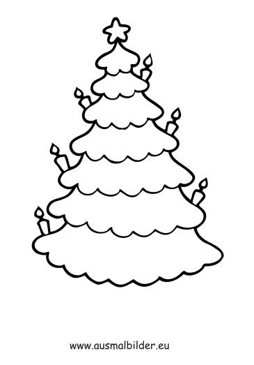 ausmalbild christbaum kostenlos ausdrucken
