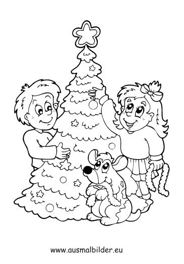 ausmalbilder weihnachten ausmalbild kinder mit. Black Bedroom Furniture Sets. Home Design Ideas