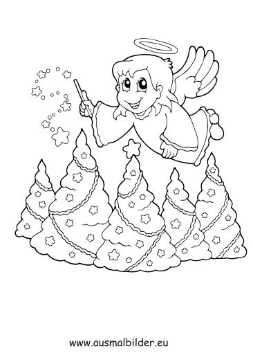 Ausmalbilder Weihnachten Ausmalbild Kleiner Engel