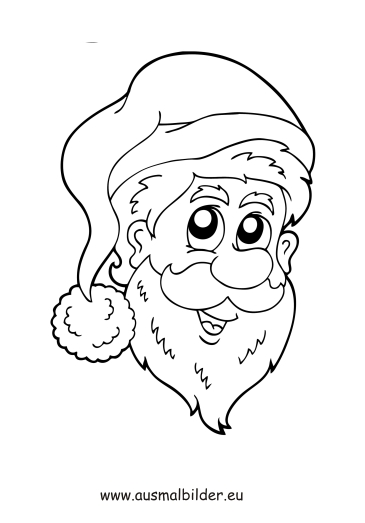 Ausmalbilder Weihnachtsmann Gesicht Weihnachten Malvorlagen