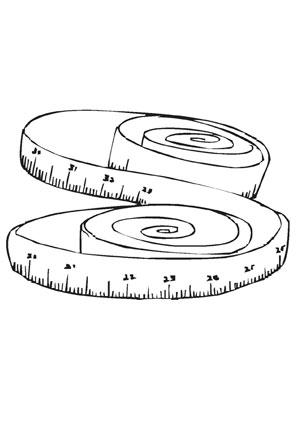 Ausmalbilder Massband - Werkzeuge Malvorlagen