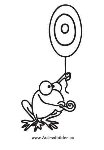 Ausmalbilder Frosch Zahl 0 Zahlen Malvorlagen Ausmalen