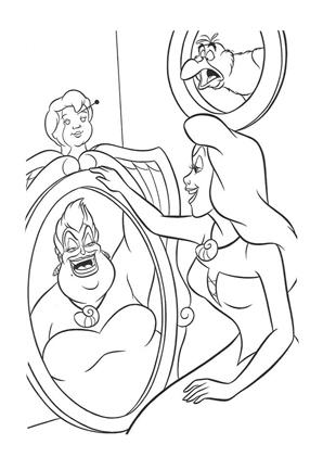 Ausmalbilder Arielle Die Meerjungfrau Arielle Und Ursula