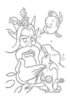 Ausmalbilder Arielle Die Meerjungfrau Arielle Und Ihr Vater