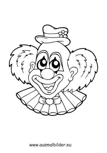 ausmalbilder clown  ausmalbilder