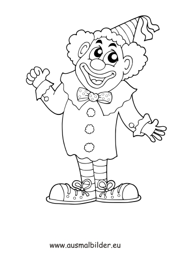 ausmalbilder zum ausdrucken clown  ausmalbilder